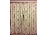 Magic Trees Pencil Pleat Blackout Curtains and lampshade from John Lewis