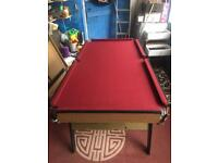 6ft x 3ft pool table
