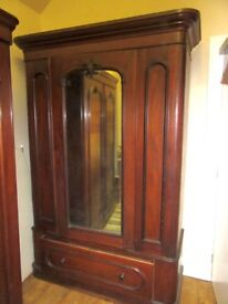 Victorian Mahonony Wardrobe