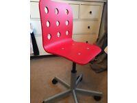 Red Ikea Desk/Office Chair