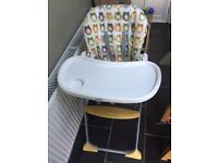 Joie baby fold away stand high chair