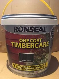 Ronseal Forest Green Fence Paint 5Ltrs