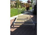 Double bed frame - metal finish