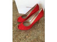 Karen Millen Red & Purple Suede Shoes