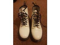 White Doc Martens size 7