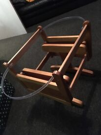 Rocking Moses basket stand gliding £30
