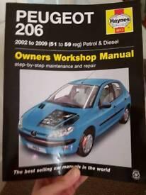 Haynes manual Peugeot 206