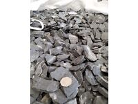 10mm, 20mm and 40mm slate chips decorative gravel for sale.