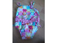 Baby girls swimsuit with swim nappy small < 6 months