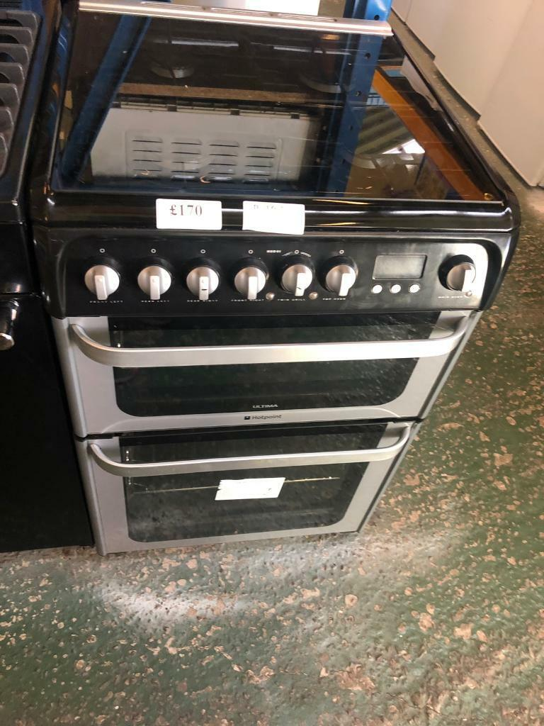 Black hotpoint ultima dual fuel 60cm cooker- free delivery in Wolverhampton deaf0fdb9820f