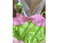 Girls Tinkerbell dress up age 5-6 years