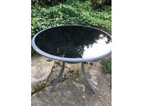 Black Glass garden table RRP £200