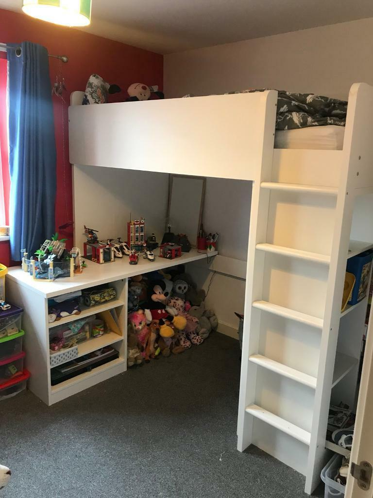 White high sleeper ikea cabin bed | in Leicester ...