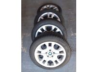 Genuine BMW Winter wheels with tyres 225/50 R17. Set of 4.