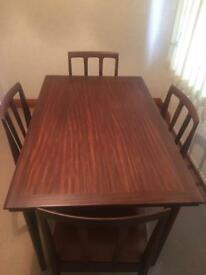 Younger extendable dining table and 4 chairs