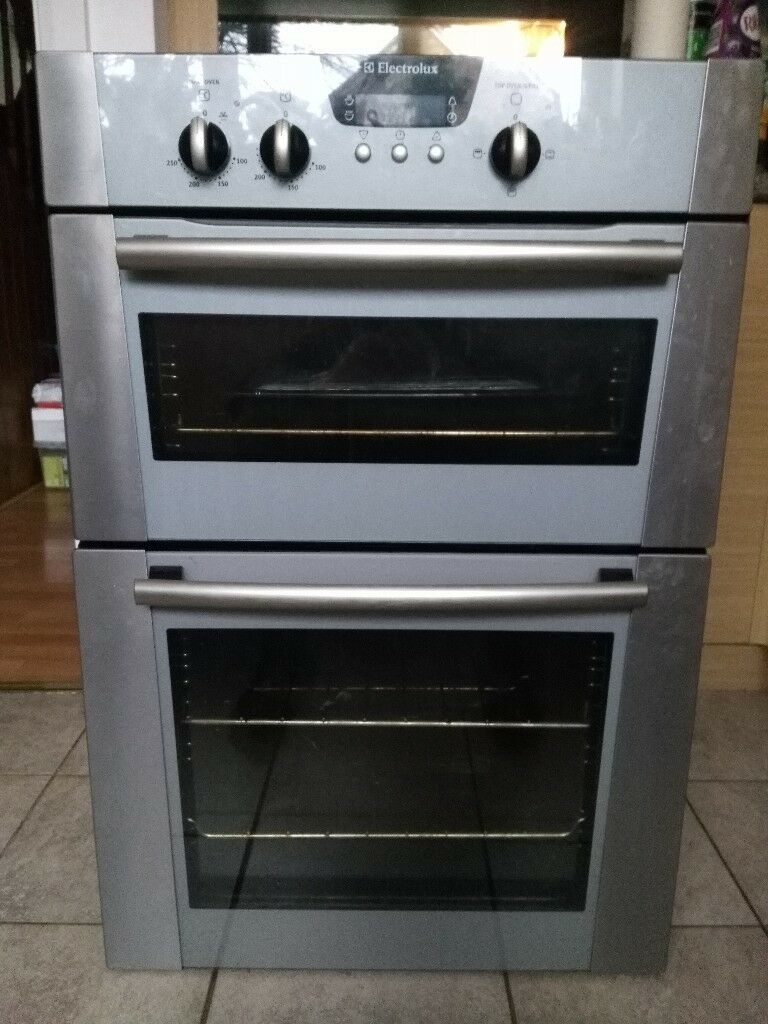 Electrolux Fan Assisted Double Electric Oven Stainless Steel Used Collection Ovens Single Lamona