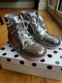 Sophia Webster mini girls Wiley glitter boots size 1