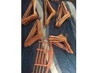 52 wooden Ikea coathangers excellent condition