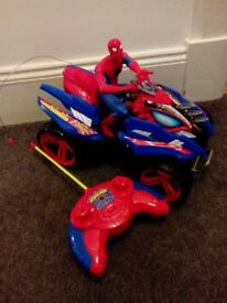 Remote controlled Spiderman car