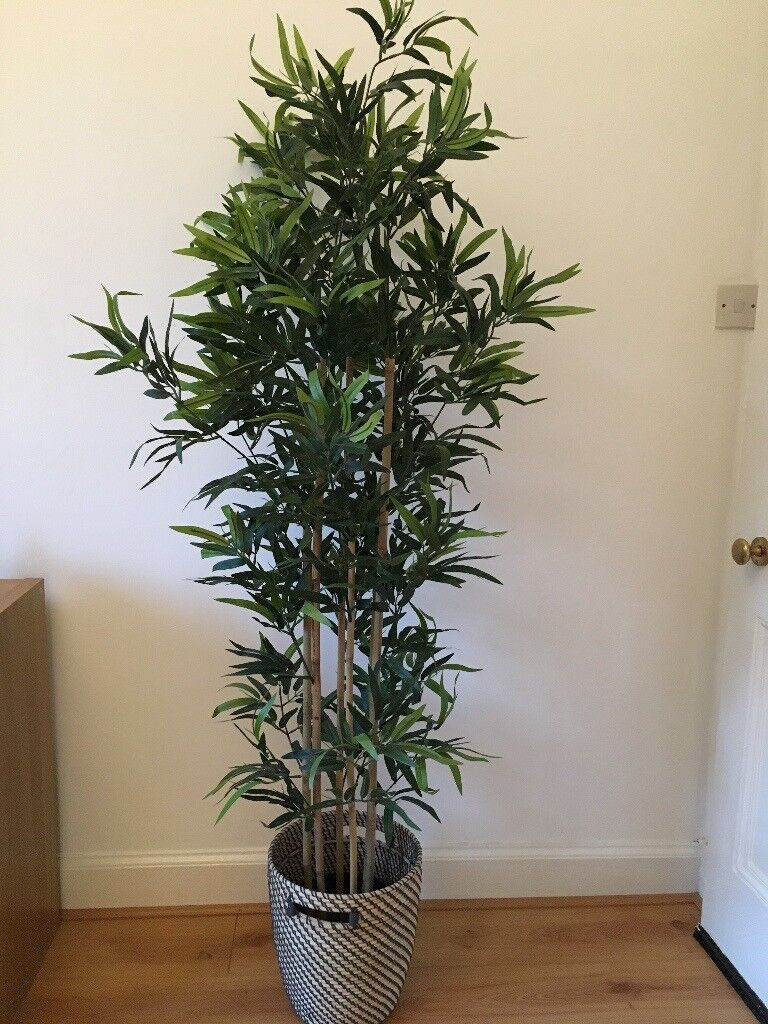 Ikea Artificial bamboo potted plant + pot very good condition