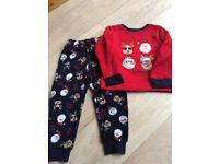 Soft, fleece Christmas Pyjamas, size 3-4yrs