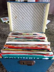 108 x 1960's & a few 70's single records with box