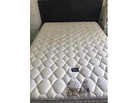Double leather look bed and mattress