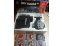 N64 Boxed 1 Pad All cables PSU + 6 Games