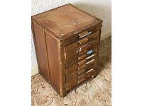 Wooden drawers vintage