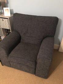 Blue manual recliner chair