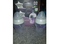 Tommee tippee bottles and colic bottles