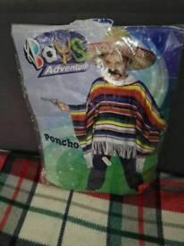 Kids poncho costume