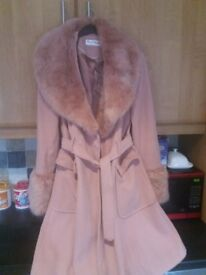 Pink miss selfridge winter coat