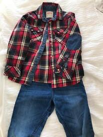 Boys Levi's shirt and jeans, size 6-8