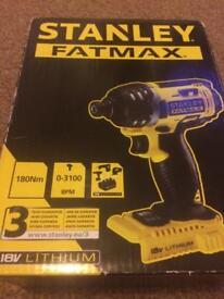 Stanley Fatmax 18v lithium impact driver brand new bare unit