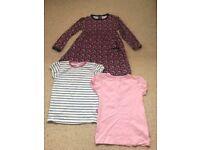JoJo Maman Bebe girls dress & 2 tops age 4-5