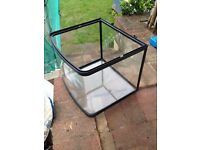 """GOLDFISH / REPTILE TANK, 12x12x14"""" (300x300x360mm) good used condition, cleaned and ready for use"""