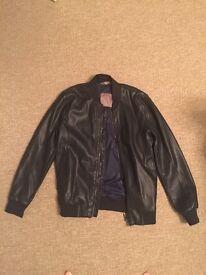 Men's Zara leather jacket (small)