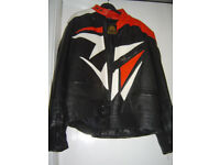 Motor Bike Black and Red Akito leather Jacket size M