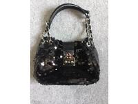 Black sequin handbag from NEXT in excellent condition