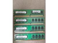 4x 1gb Hynix pc2 DDR Ram 6400u