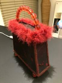Red handbag lamp