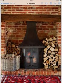 Wood burning multi fuel stove
