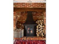 Wood burning multi fuel stove
