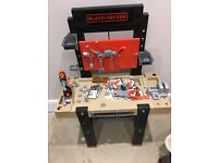 Smoby black and decker toy work bench