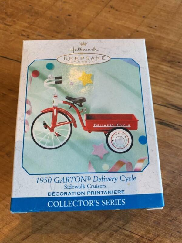 Hallmark Ornament 1950 Garton Delivery Cycle Sidewalk Cruisers 1999 Tricycle