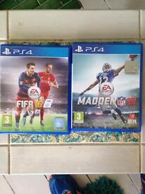 PS4! FIFA 16 and MADDEN 16