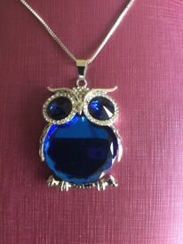 New Blue Owl Pendant.