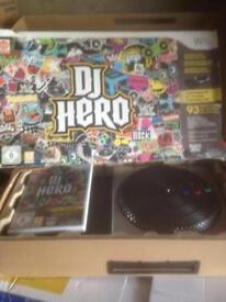 Wii DJ hero excellent condition