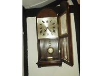 STUNNING 1930S HAC ART DECO WALL CLOCK